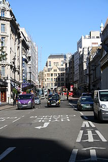 Haymarket, London Street in the St. Jamess area of the City of Westminster, London