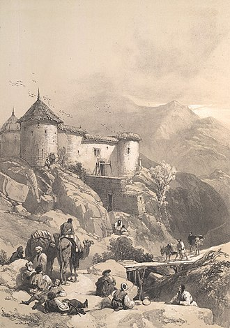 Gulab Singh - The Hill fort of Maharaja Gulab Singh, 1846 drawing.