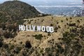 The Hollywood sign, a landmark and American cultural icon located in Los Angeles, California LCCN2013633245.tif