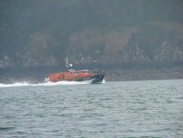 The Lady Rank Lifeboat in Chapel Bay near Angle