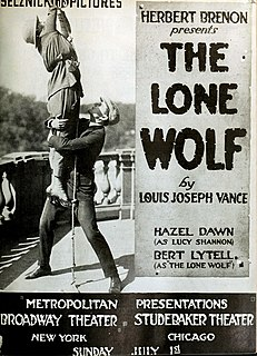 <i>The Lone Wolf</i> (1917 film) 1917 film by Herbert Brenon