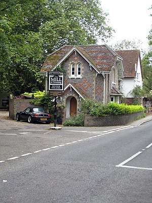 The Mill at Sonning - Entrance to the Mill theatre-restaurant in Sonning Eye.