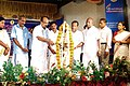 The Minister of State for Agriculture, Consumer Affairs, Food & Public Distribution, Prof. K.V. Thomas lighting the lamp to inaugurate the Public Information Campaign on Bharat Nirman, at Njarakkal, Vypin Island.jpg