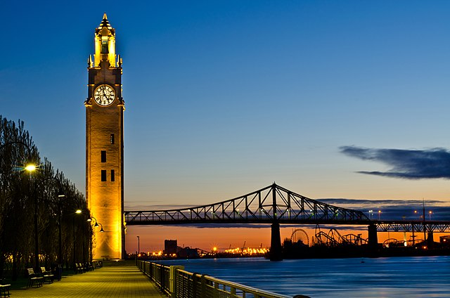 5th place:  A view of the Clock Tower in the Old Port of Montréal at sunrise, by Michael Vesia