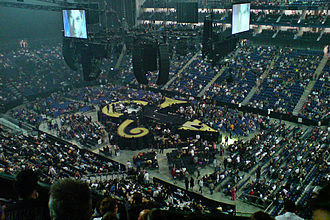 The O2 Arena - Prince's stage for his sold out performance of 2007