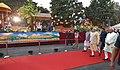 The Prime Minister, Shri Narendra Modi visiting the exhibition at the Haryana Swarna Jayanti Celebration Ceremony venue, in Gurugram, Haryana (1).jpg