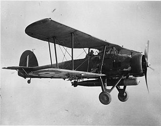 Fairey Swordfish - A Swordfish I during a training flight from RNAS Crail, circa 1939–1945
