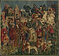 The Unicorn is Killed and Brought to the Castle (from the Unicorn Tapestries) MET DP118990.jpg