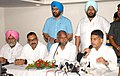 The Union Minister for Textiles, Dr. Kavuru Sambasiva Rao and the Minister of State (Independent Charge) for Information & Broadcasting, Shri Manish Tewari addressing at a Press Conference, in Ludhiana on September 11, 2013.jpg