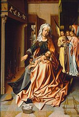 The Virgin preparing the bath of the Child