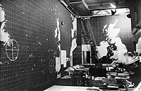 The Western Approaches Operations Room at Derby House, Liverpool, from where the Battle of the Atlantic was controlled, April 1945. A28350.jpg