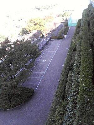 IAI Stadium Nihondaira - The offending access road