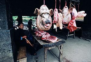 English: In mountain regions of Vietnam, peopl...