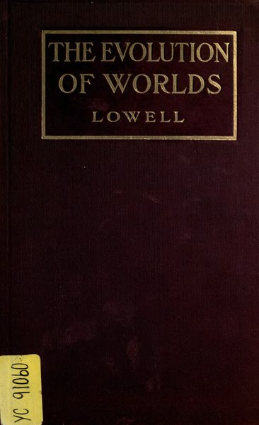 File:The evolution of worlds - Lowell.djvu