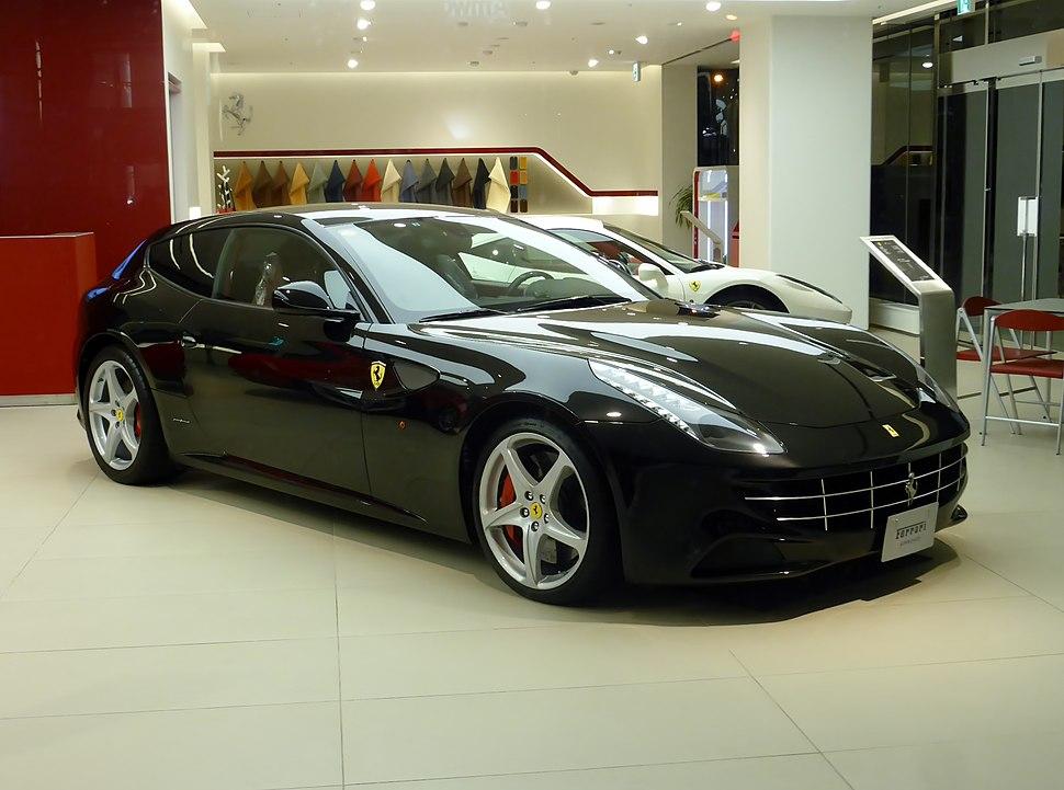 The frontview of Ferrari FF