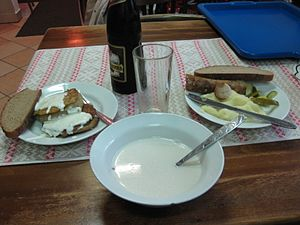 Belarusian cuisine - A meal at a cafe in Vitebsk