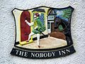 The sign for the Nobody Inn, Doddiscombsleigh - geograph.org.uk - 1308753.jpg