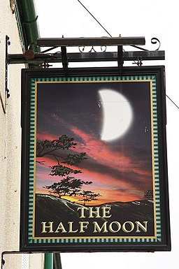 The sign of The Half Moon - geograph.org.uk - 1745390