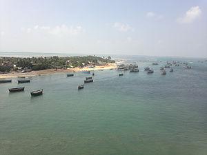 Pamban Island - The view from Pamban Bridge, Rameswaram