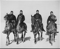 These Negro members of a Coast Guard Horse Patrol unit patrol beaches in the New Jersey area in all kinds of weather. - NARA - 535853.tif