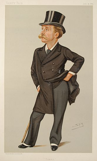 "Leslie Ward - ""Tommy"" Bowles, founder of Vanity Fair, caricatured by Leslie Ward in 1889"