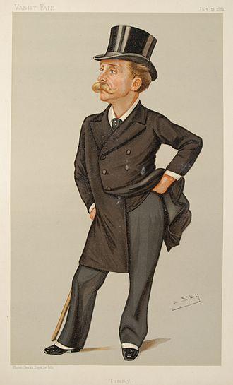 "Leslie Ward - ""Tommy"" Bowles, founder of Vanity Fair, caricatured by Leslie Ward in 1889"
