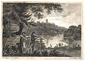 Humphry Repton - Business card for Humphry Repton by Thomas Medland