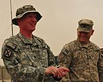Thomas promoted to staff sergeant at Kandahar Airfield Humanitarian Assistance Yard DVIDS413963.jpg
