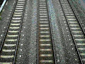 Railway tracks. (NOTE: Uploader says, in uploa...
