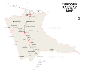 Thrissur railway station - Thrissur Railway Map
