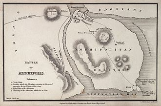Battle of Amphipolis - Image: Thucydides, Maps and Plans illustrative of Wellcome L0031928