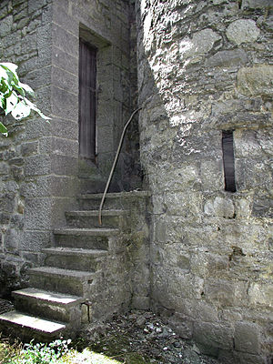 English: A small door of the castle