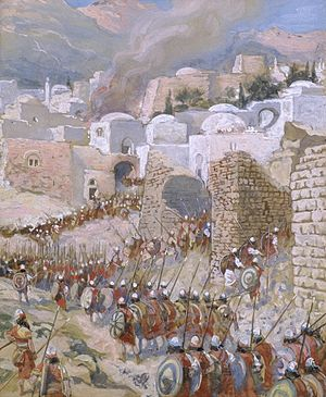 English: The Taking of Jericho, c. 1896-1902, ...