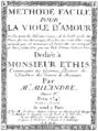 Title page of Méthode facile pour la Viole d'Amour.png