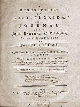 William Stork - Title page of Stork's Description of East Florida (1769)
