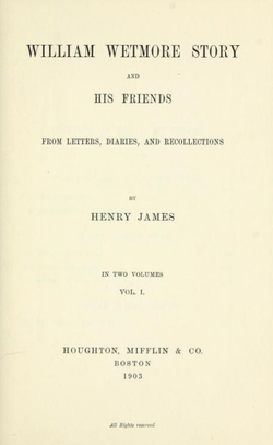 Title page of William Wetmore Story (Boston, 1903).png