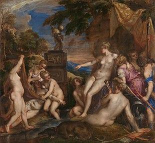 Diana e Callisto Tiziano Vecellio 1556-1559 National Gallery of Scotland Edimburgo