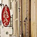 Tobacco shop sign in Montmartre, Paris March 2011.jpg