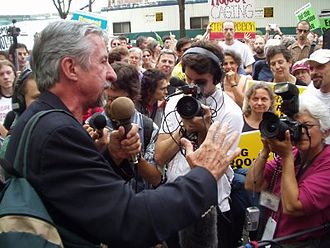 Los Angeles mayoral election, 1997 - Image: Tom Hayden Addresses Anti War Protest At The DNC20040729 01small