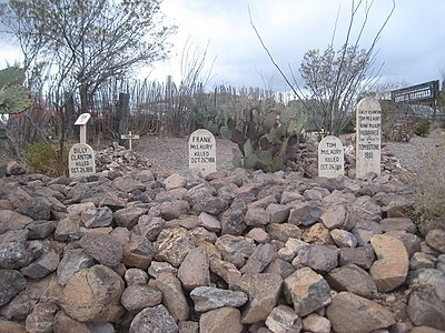 Tombstone-Boot Hill Graveyard-Graves of Billy Clanton, and Frank and Tom McLaury 2