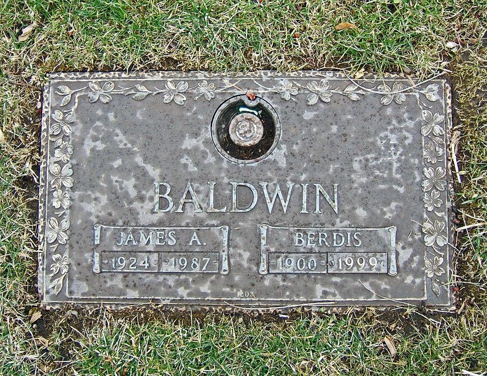 Tombstone of James Baldwin and his mother Berdis