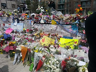 Toronto van attack - Image: Torontostrong memorial Olive Square