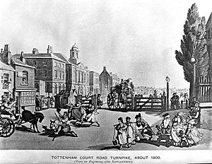 Tottenham Court Road Turnpike, about 1800. Wellcome L0000382.jpg