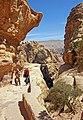 Tourists climbing to Ad-Dair at Petra, Jordan.jpg