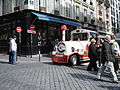 Train-styled tour bus in Montmartre 2008.jpg