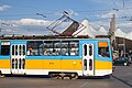 Tram in Sofia in front of Central Railway Station 2012 PD 005.jpg