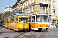 Tram in Sofia near Central mineral bath 2012 PD 053.jpg