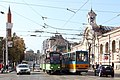 Trams in Sofia in front of Central Market Hall 2012 PD 13.JPG