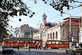 Trams in Sofia in front of Central Market Hall 2012 PD 20.JPG