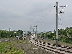 Tramway alongside Bankhead Drive (geograph 3505946).jpg